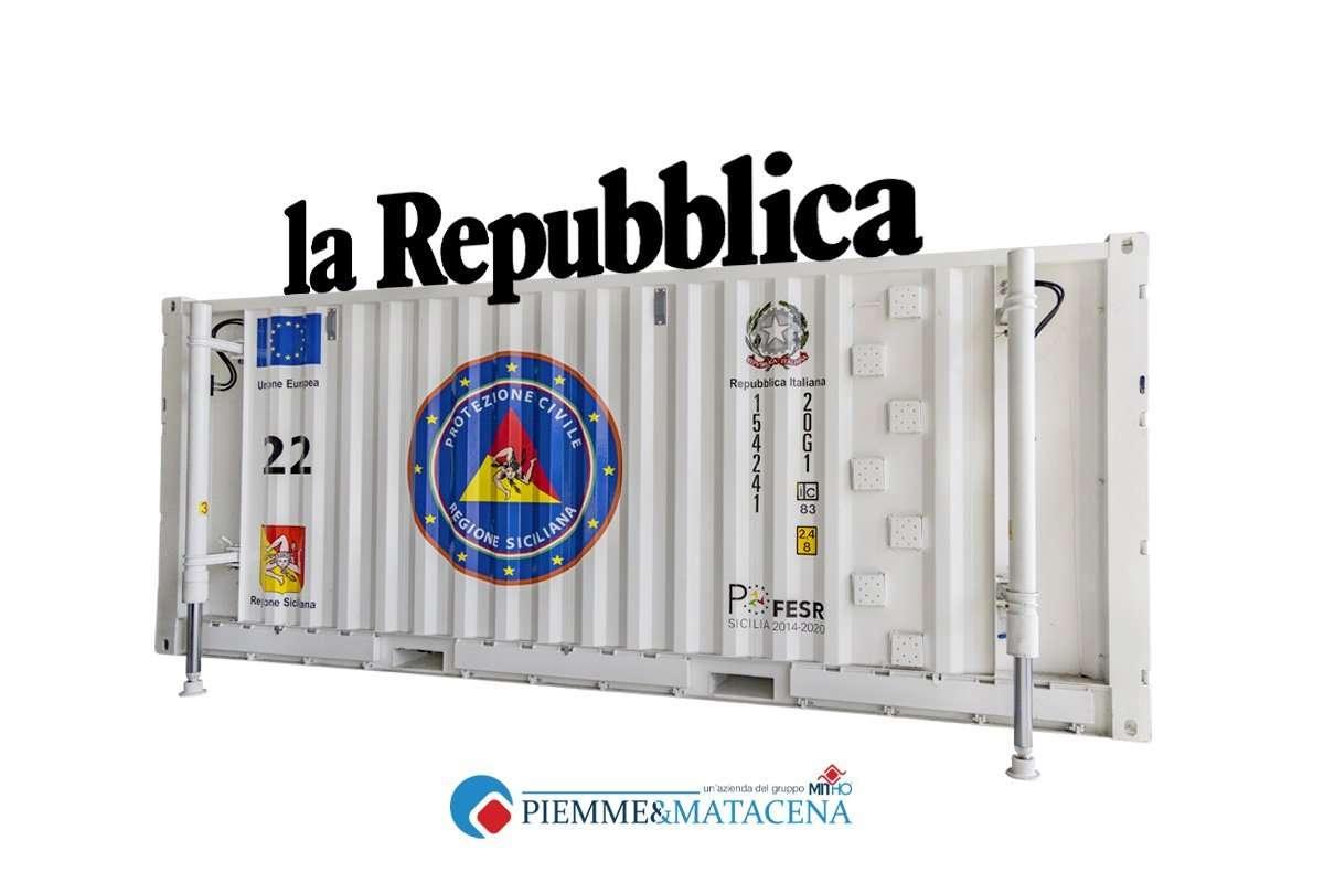 Articolo Container USAR su Repubblica