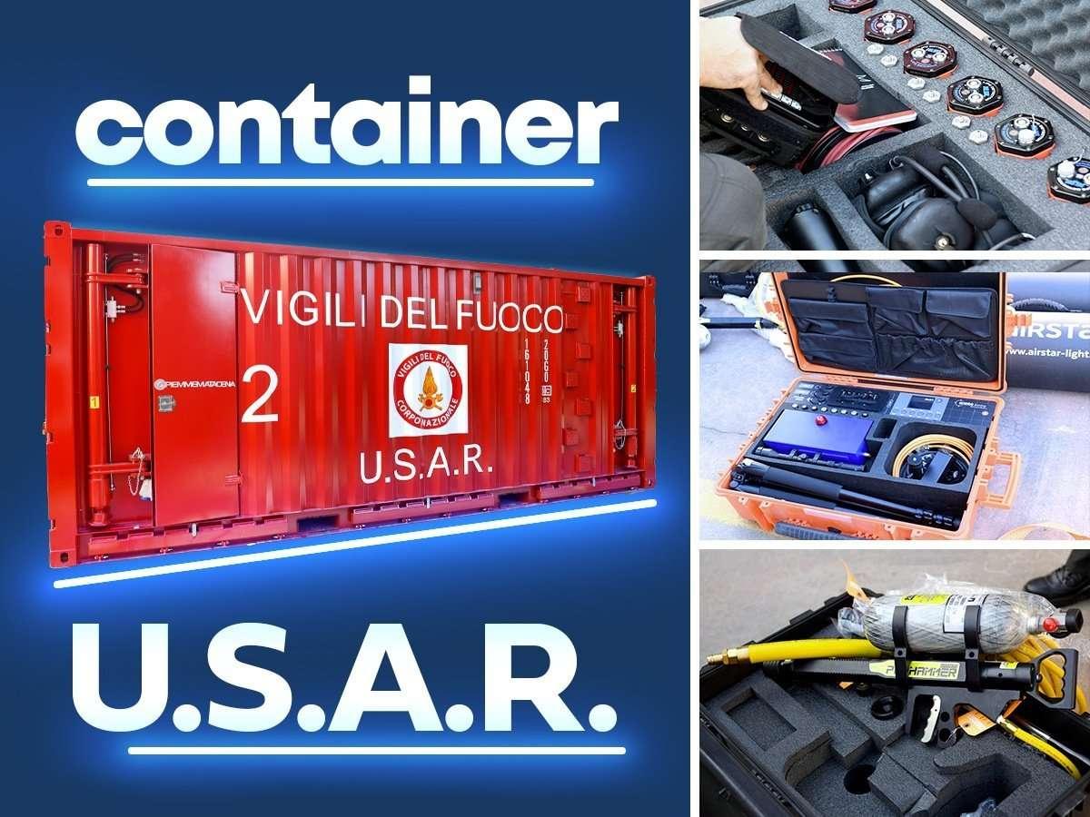 Consegna container USAR VVF Campania