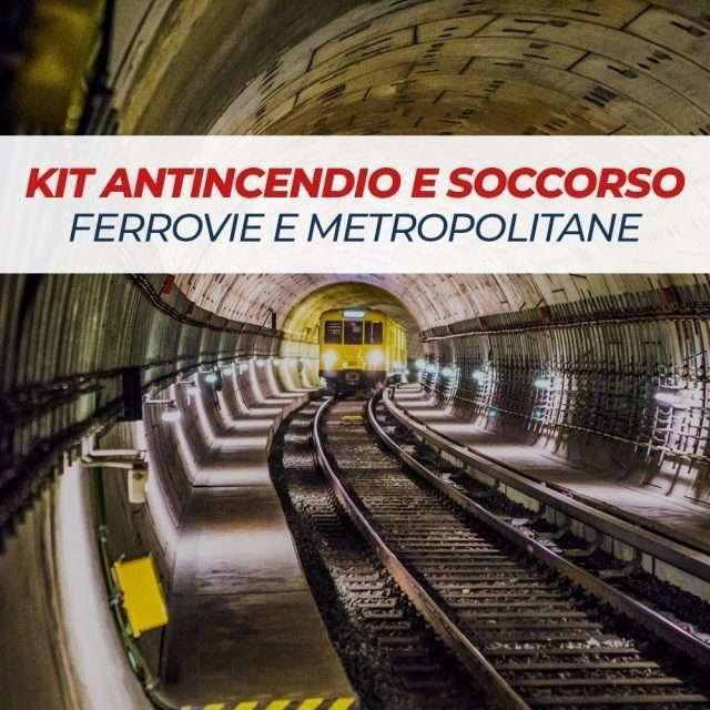 Kit antincendio e soccorso per ferrovie e metropolitane