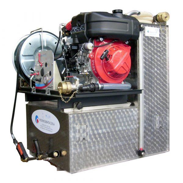 Modulo antincendio inox 400 lt motore diesel L