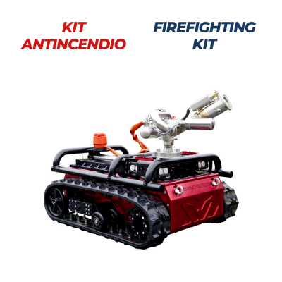 Robot con kit antincendio per vigili del fuoco