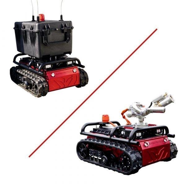 Robot sanificante a controllo remoto e kit antincendio