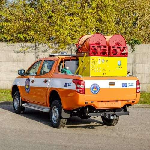 Pickup con modulo antincendio cafs